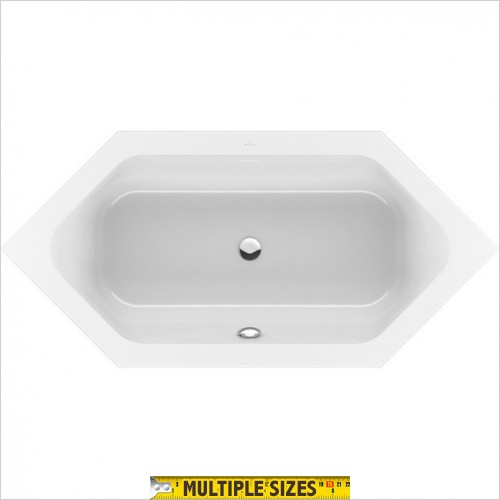 Villeroy & Boch - Loop & Friends Duo Hexagonal Bath 1900 x 900mm