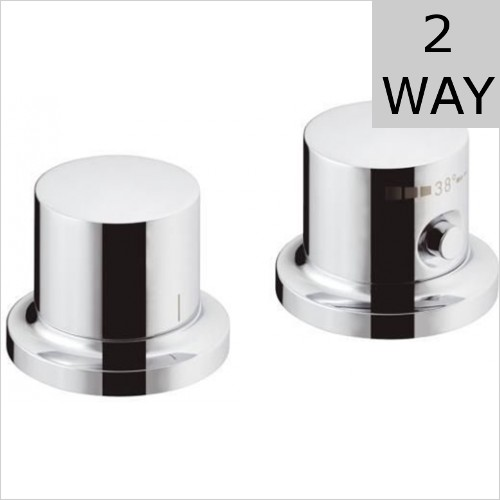 Hansgrohe - Axor Massaud Rim Mounted 2 Hole Thermostatic Mixer
