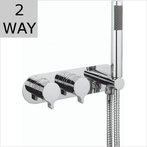 Crosswater - Svelte 2 Way Thermostatic Valve With Shower Handset