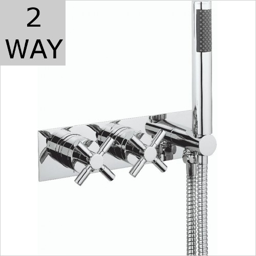 Crosswater - Totti 2 Way Thermostatic Valve With Shower Handset