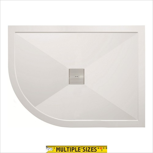 Crosswater - 25mm Central Waste Offset Quadrant Shower Tray 1000 x 800mm