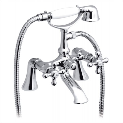 Vado - Victoriana Deck Mounted Bath Shower Mixer With Shower Kit