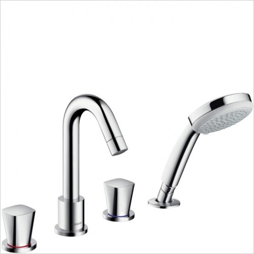 Hansgrohe - Logis 4 Hole Bath Shower Mixer