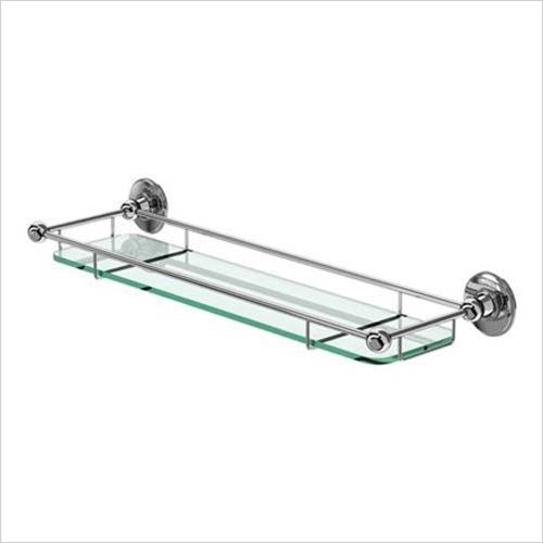 Burlington - Glass Shelf With Rail 532mm