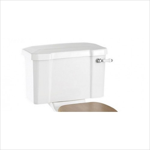 Burlington - 440mm Close Coupled Cistern With White Lever