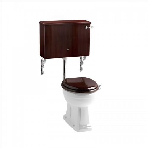 Burlington - Low Level Toilet With Mahogany Cistern