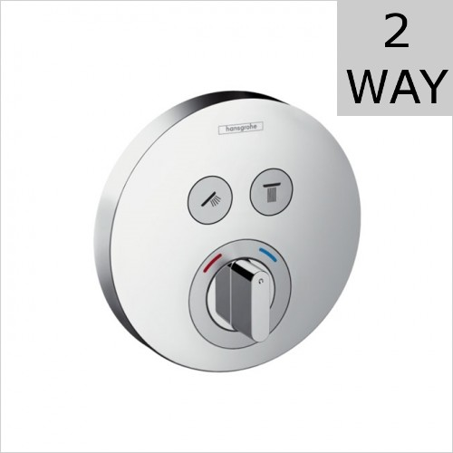 Hansgrohe - Shower Select S Concealed Manual Valve For 2 Outlets