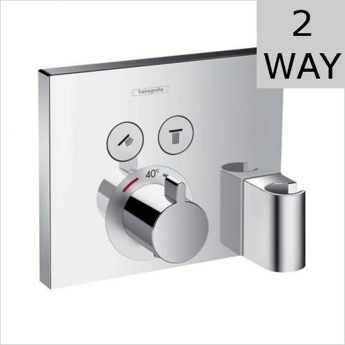 Hansgrohe - ShowerSelect Thermostatic Valve For 2 Outlets With Porter