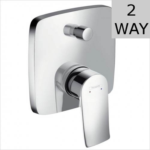 Hansgrohe - Metris Square Concealed Bath Shower Mixer