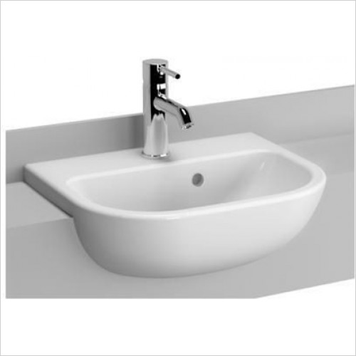 Vitra - S20 Semi Recessed Basin 450 x 355mm
