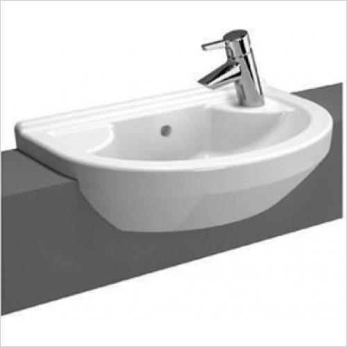 Vitra - S50 Round Compact Semi Recessed Basin 550 x 360mm