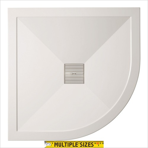Crosswater - 25mm Central Waste Quadrant Shower Tray 800 x 800mm