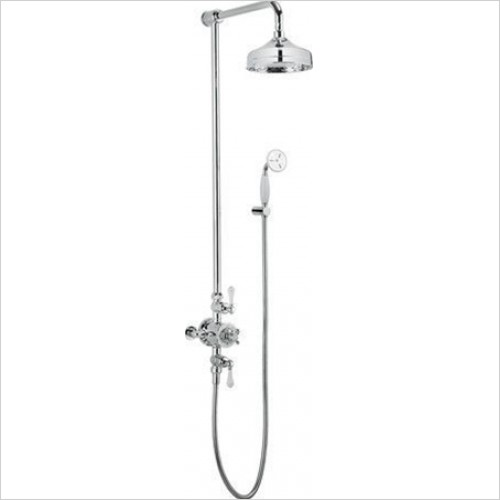 "Crosswater - Belgravia Exposed Thermostatic 8"" Overhead & Bracket Kit"