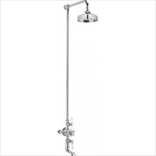 "Crosswater - Belgravia Exposed Thermostatic 8"" Overhead Bath Shower Kit"