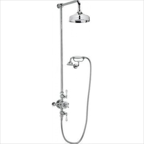 "Crosswater - Belgravia Exposed Thermostatic 8"" Overhead & Cradle Kit"