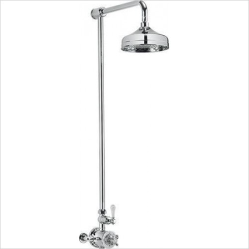 "Crosswater - Belgravia Exposed 8"" Overhead Thermostatic Shower Kit"