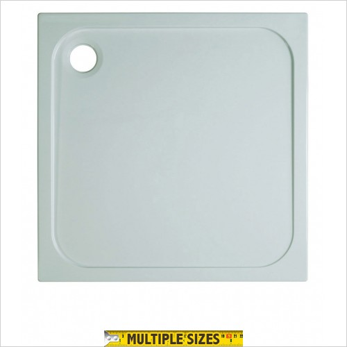 Crosswater - 45mm Stone Resin Square Tray 760 x 760mm