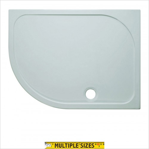 Crosswater - 45mm Stone Resin Offset Quadrant Tray 1000 x 800mm LH