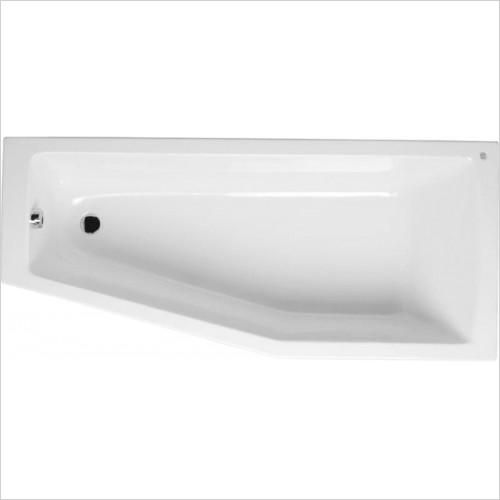 Vitra - Neon Space Saver Bath - 1700 x 750mm - Left Hand