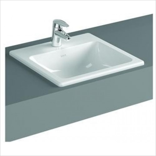 Vitra - S20 Square Countertop Basin With Tap Hole 500 x 450mm