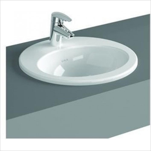 Vitra - S20 Oval Countertop Basin With Tap Hole 480 x 425mm
