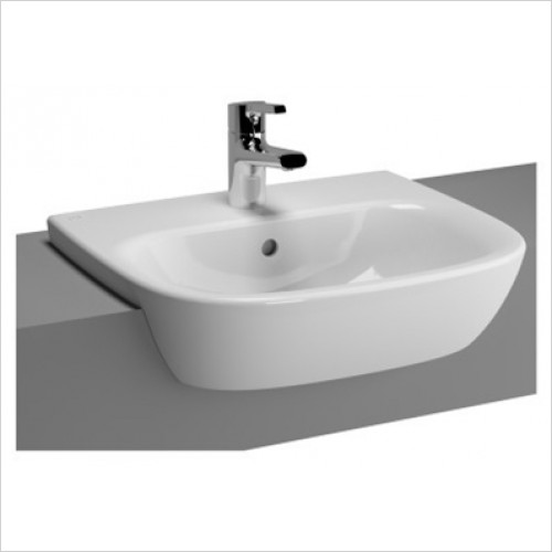 Vitra - Zentrum Semi Recessed Basin 500 x 425mm