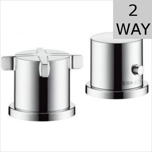 Hansgrohe - Axor Citterio E 2 Hole Bath Thermostatic Mixer For 2 Outlets