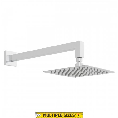 Vado - Aquablade Square Slimline Shower Head & Arm 200mm
