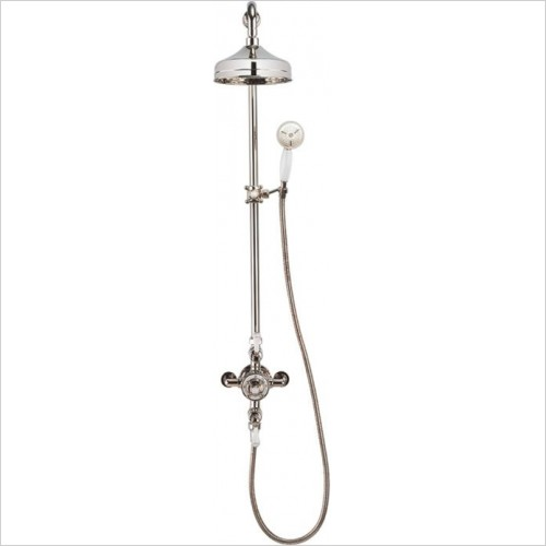 "Crosswater - Belgravia Exposed Thermostatic 8"" Overhead & Slider Kit"