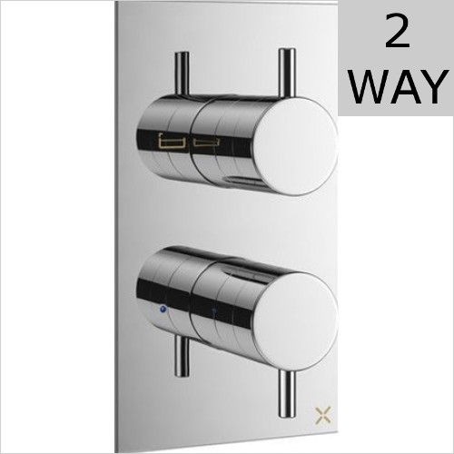 Crosswater - MPRO 2 Way Thermostatic Valve For Bath