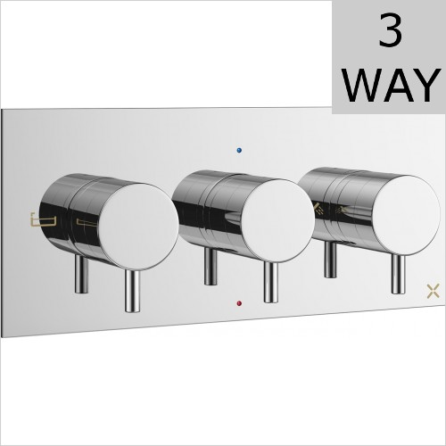 Crosswater - MPRO 3 Way 3 Handle Thermostatic Valve Landscape
