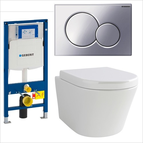 Pura Bathrooms - Pura Arco Wall Hung WC & Geberit 1.12 / Sigma 01 Pack