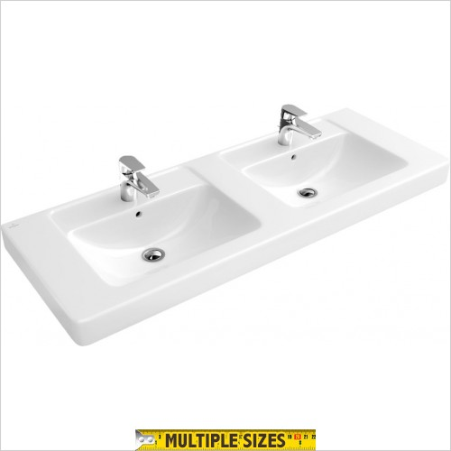 Villeroy & Boch - Subway Double Vanity Basin 1300 x 485mm