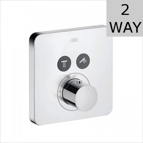 Hansgrohe - Axor ShowerSelect Soft Cube Thermostatic Valve For 2 Outlets