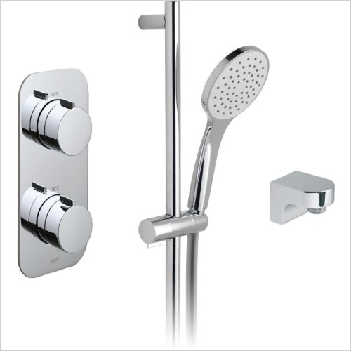 Vado - Tablet Altitude Vertical 1 Way Shower Rail Kit Package