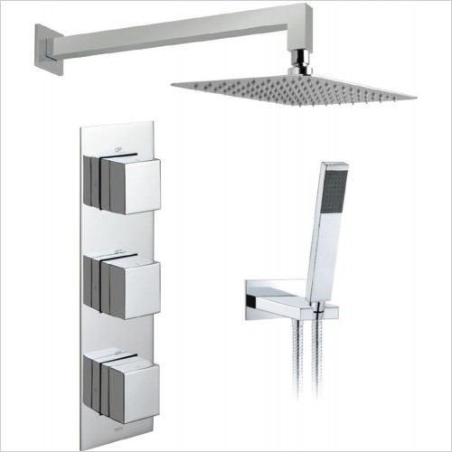 Vado - Tablet Notion Vertical 2 Way Overhead Shower Package