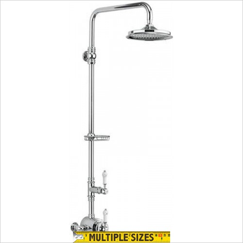 "Burlington - Stour Exposed With Rigid Riser & 6"" Shower Head"