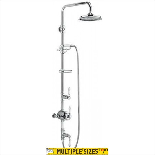 "Burlington - Stour Exposed With Rigid Riser & Handset, 6"" Shower Head"