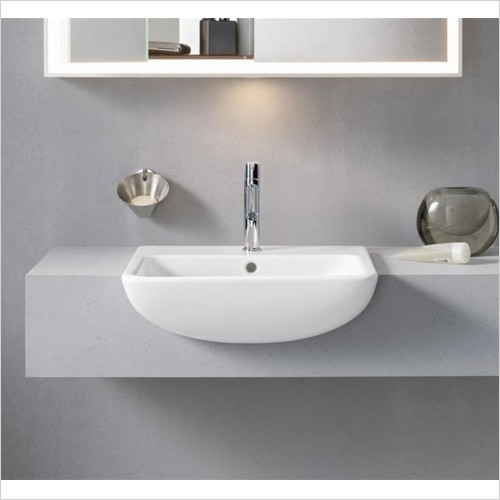 Duravit - ME By Starck Semi-Recessed Washbasin 550mm