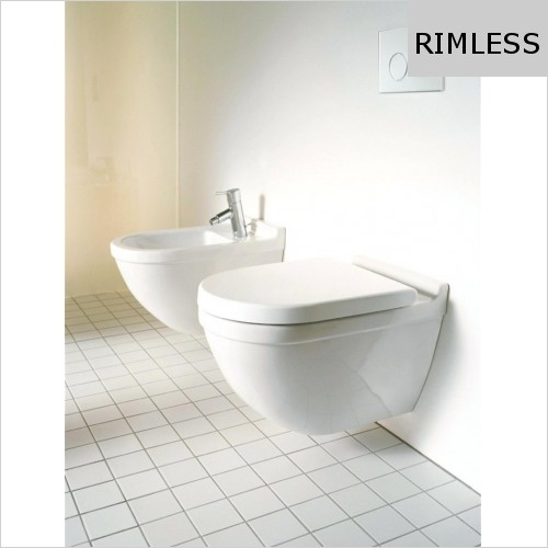 Duravit - Starck 3 Toilet Wall Mounted Rimless