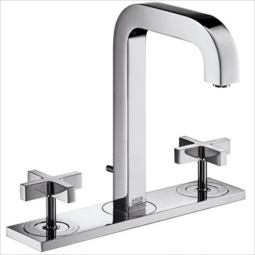 Hansgrohe - Axor Citterio Crosshead 3 Hole Basin Mixer With Plate