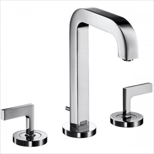 Hansgrohe - Axor Citterio Lever 3 Hole Basin Mixer Without Plate