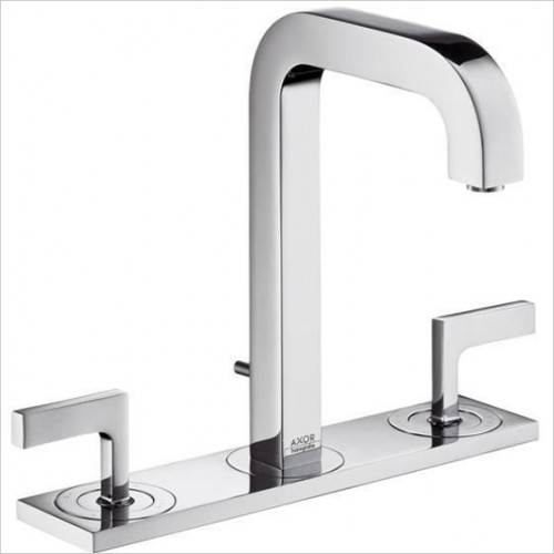 Hansgrohe - Axor Citterio Lever 3 Hole Basin Mixer With Plate