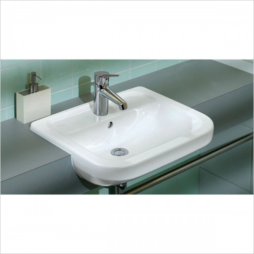 Villeroy & Boch - Subway Semi-Recessed Washbasin 550 x 460mm
