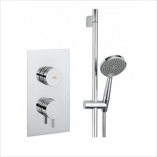 Crosswater - Dial Valve 1 Control With Kai Lever Trim & Shower Rail Kit