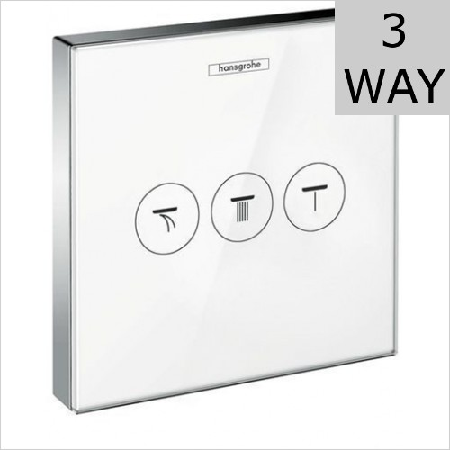 Hansgrohe - ShowerSelect Glass Concealed 3 Way Valve