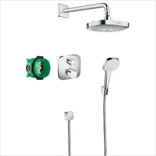 Hansgrohe - Ecostat E Design Shower Set With Overhead & Handshower