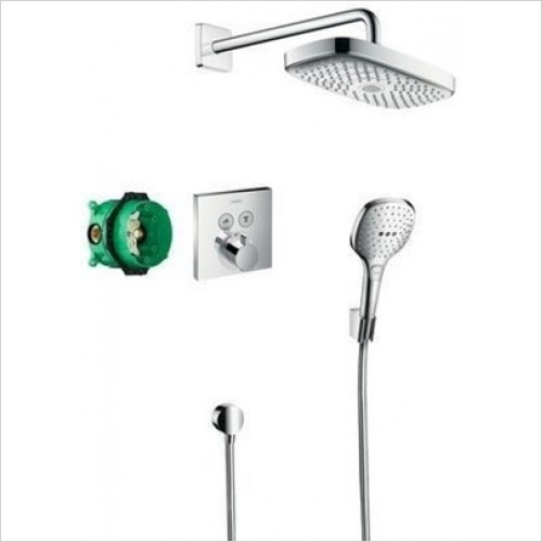 Hansgrohe - Shower Select E Design Shower Set With Overhead & Handshower