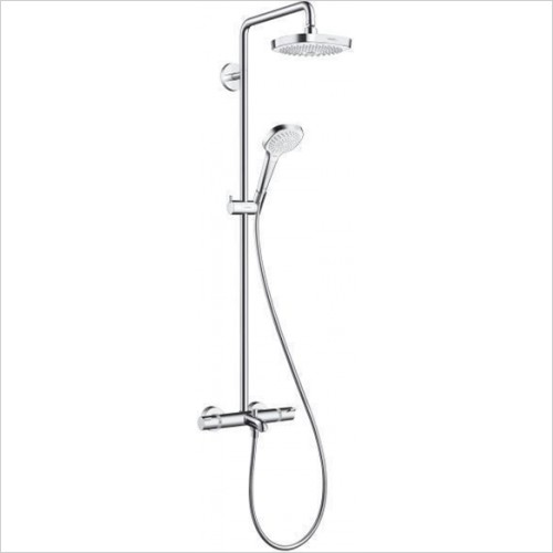 Hansgrohe - Croma Select E 180 2 Jet Showerpipe For Bath