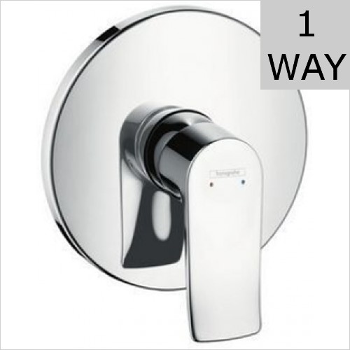 Hansgrohe - Metris Single Lever Manual Shower Mixer Highflow Concealed